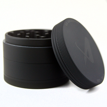 newest 63mm 4 piece matte black herb grinders