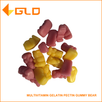 Hot sell healthy food supplement Multivitamin Gelatin or Pectin Gummy Bear