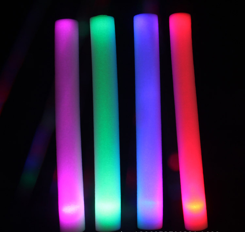 foam glow stick colorful light stick glow in dark <strong>R</strong>.G.B. version flashing for party wedding