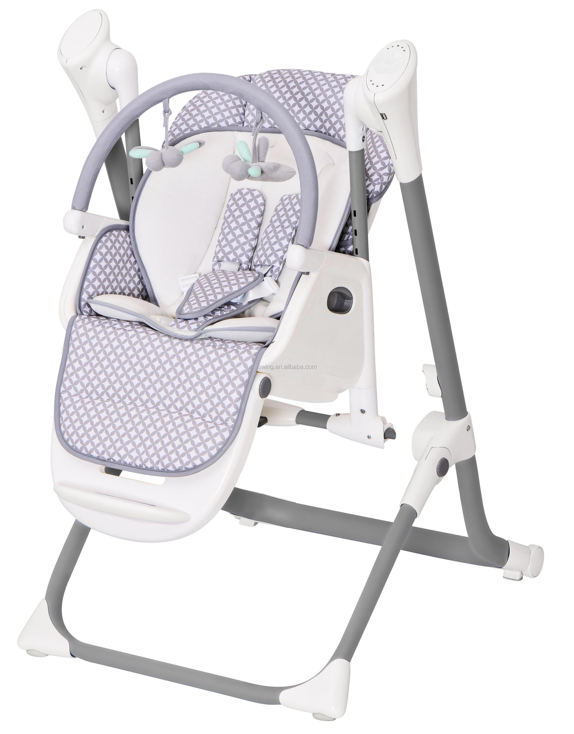 Multi-function high chair/swing 2 in 1,High chair/swing with tray and safety belt,baby feeding table