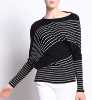 EY0773S 2016 Womens fashion Clothing colorful striped pullover sweater