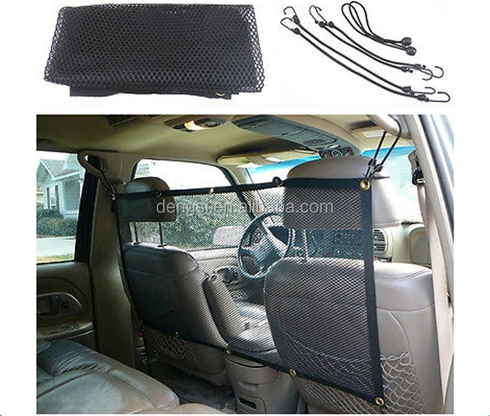 High quality car pet barrier mesh vehicle dog safety net