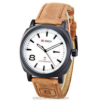 2015 new Casual Quartz watch men military Watches sport Wristwatch Dropship Leather Clock Fashion