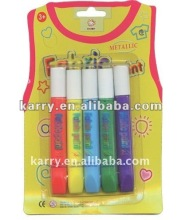 5 tubes fabric paint set, shaped T-shirt