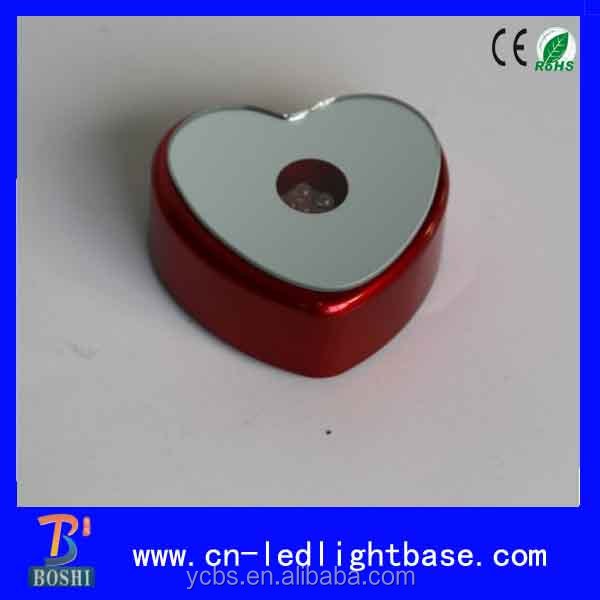 Plastic battery powered wedding heart shaped cake stands