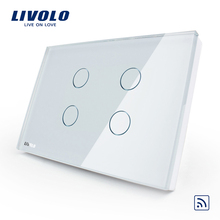 Livolo Lighting Equipment 4 Gang RF Remote control Wireless <strong>Switch</strong> VL-C304R-81