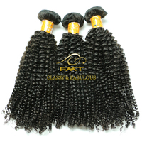Best Quality brazilian hair extension 8a grade natural black kinky curly weft hair