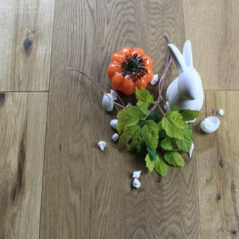 3 Layer Engineered Natural Oak Flooring, Real Wooden Flooring With Handcraft Design