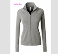 High quality China factory Womens Lightweight Long Sleeve Active performance Cadet Collar running Jackets custom for women