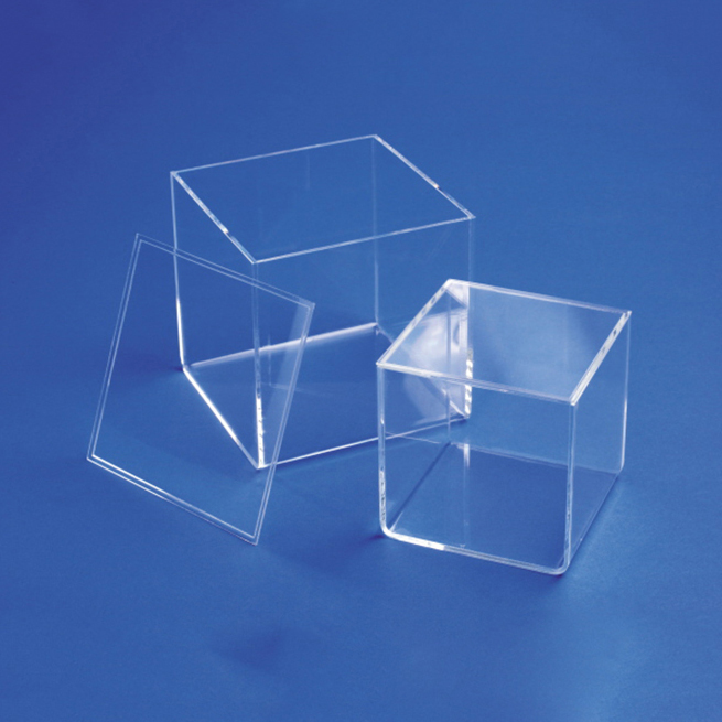 Cube Clear Acrylic Storage Box with a lid Plexiglass Lucite Dispaly Box