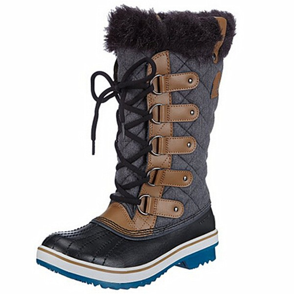 Wholesale lace-up fur fashion waterproof Warm winter snow boot for women
