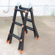 3.3m black aluminum telescopic ladder