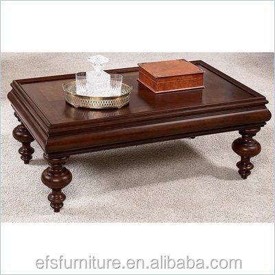 Hot sale hand carved antique wood sofa center table