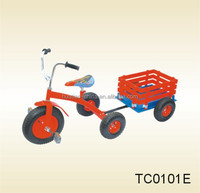 Children bicycle with trailer,Three wheels Children bicycle with good steady