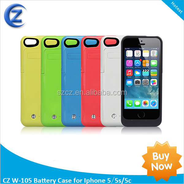 ultra slim battery case for iphone 5c 5 5s 2200mah