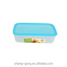 Plastic Food Container can use microwave with PE lid BPA FREE