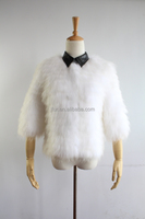 Fashion Seven Point Sleeves Leather Collar Raccoon Fur Short Coat