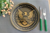 tempered glass plate set eagle design