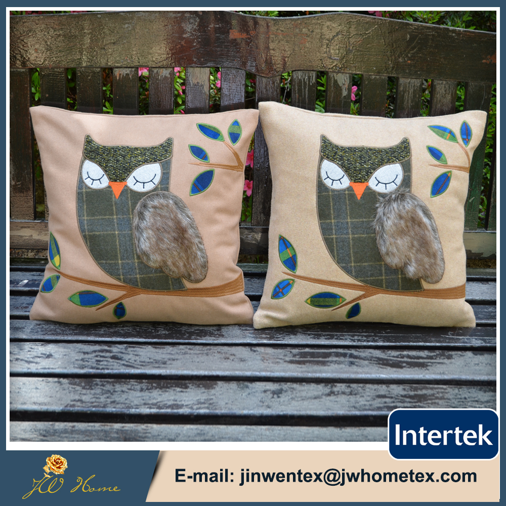 Bird images wool viscose blend Cushion Cover home office sofa square bird pillow case decorative cushion covers pillowcases