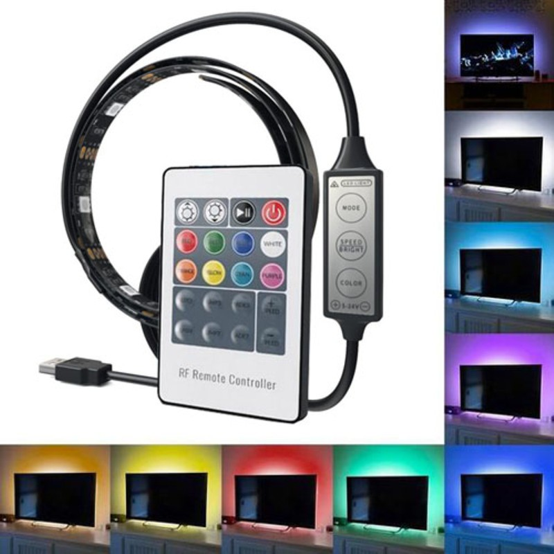 USB Powered led strip 5V Power TV mood light 5050 Smd led strip kit 90cm home decoration