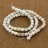 TB0431 Matte White Turquoise Round Beads,Matte White Jewelry making beads,Dull Polished White Howlite Beads