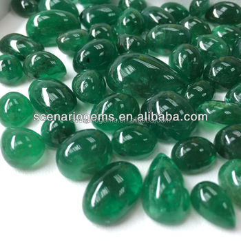 #HAZZ Natural Multi Shape Cabs Loose Gemstone Emerald