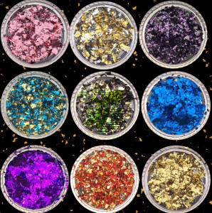 2018 New Arrival double color metal flakes pearl pigment for nail polish
