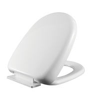D shape urea WC toilet seat cover with soft close and quick release hinge made in China