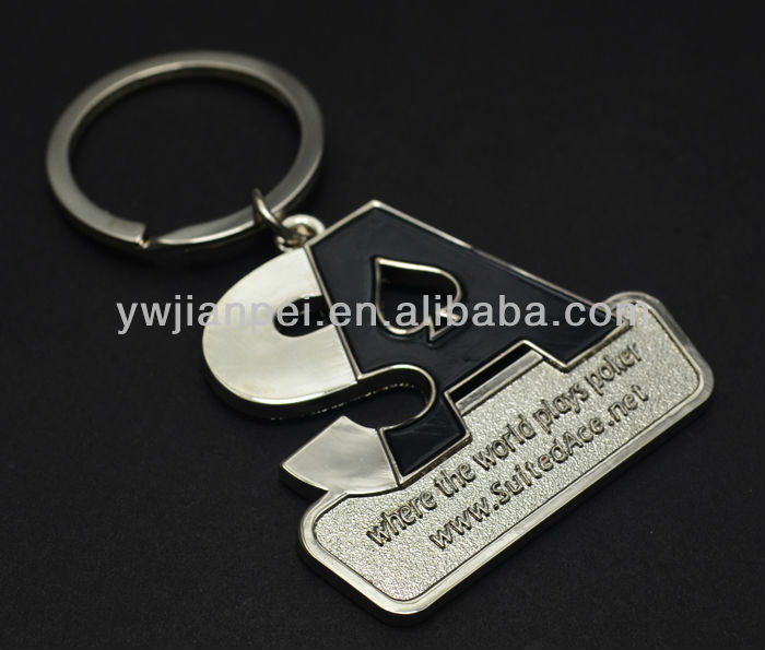 Metal Custom Logo Shape Giveaway Gift Keychain Key Ring