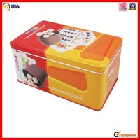 rectangular fashionable musical tin box
