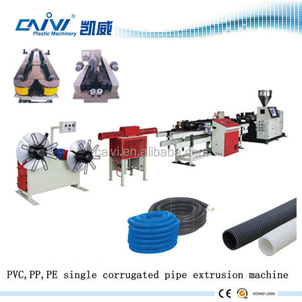Export Standard corrugated pipe making machine for electric cable wire