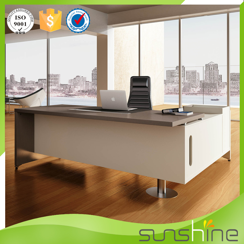 Hot sale L shape manager office table design
