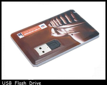 Environmental credit card style usb flash drive made in China