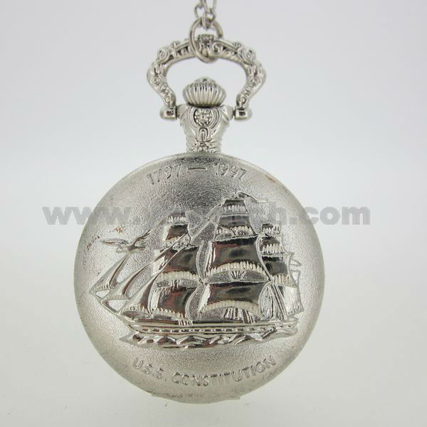 New Mens alloy Case White Dial Antique Pocket Watches