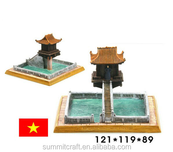 The world famous buildings Vietnam a column tower miniature building model