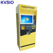 Self service automatic parking lot bill payment Kiosk machine with coin changer