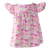 Various Flowers Printed Baby Clothes Lovely Toddler Clothing Cap Sleeve Baby Girls Dresses/Tunic for Summer