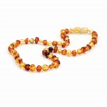 Cognac Gold Amber Teething Bracelet/Necklace Baltic Natural Amber Collar Boy Girls Birthday Gifts Baby Jewelry