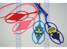 Multifunctional silicone lanyard silicone mobile phone case security neck strap