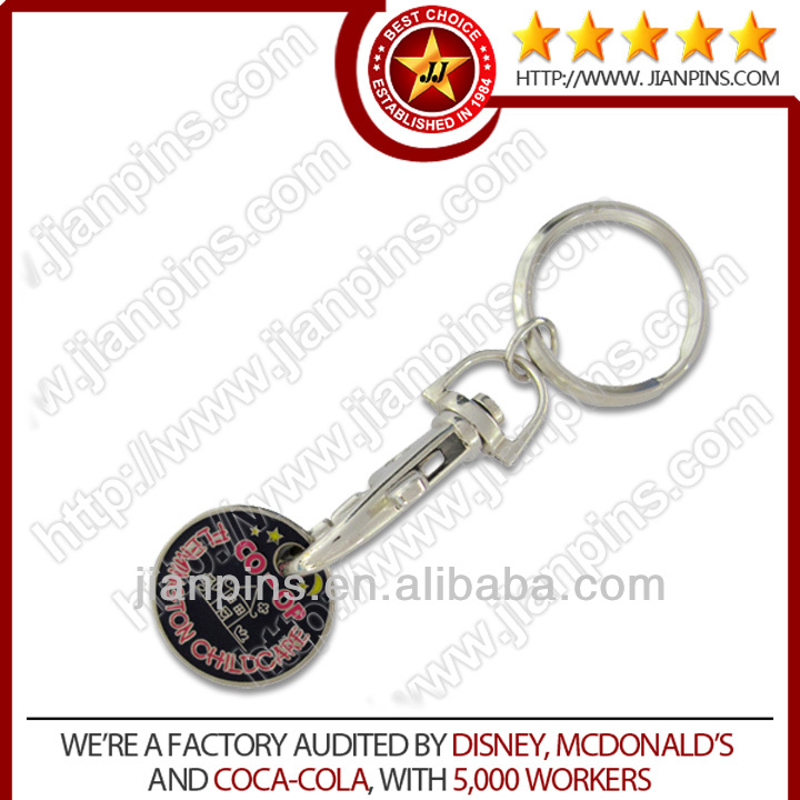 Customized design promotional trolley keychains