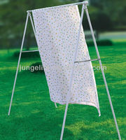 Free standing outdoor rack (hanging pants rack hanger with round bar)