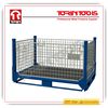 Heavy duty foldable metal cage containers for sale (L1600*W1150 mm/OEM)