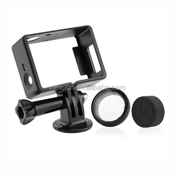 CNC Machining parts action camera frame with black-anodizing