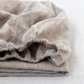 100%Linen Solid Color Simple Twin Full Queen King Elastic Fitted Sheet