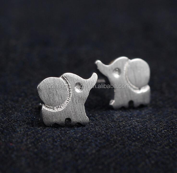 925 sterling silver lucky elephant stud earrings for her vintage fashion jewelry