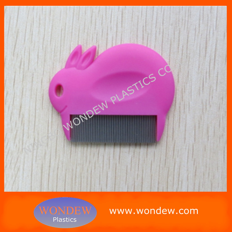 Cute metal lice comb/ Children stainless steel lice remove comb
