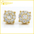 hip hop sterling silver micro pave lab created diamond screw back boy earrings