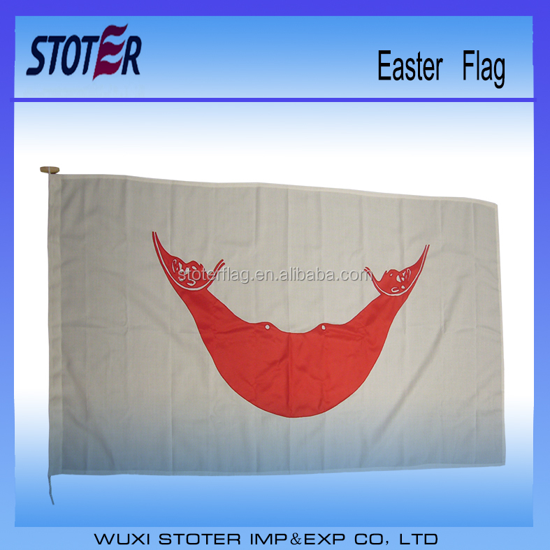High Quality Different Kinds Flying Easter flag 3*5FT flags