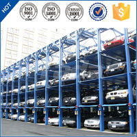 pjs 4 post 4 layer mechanical vertical car parking lift system for sale