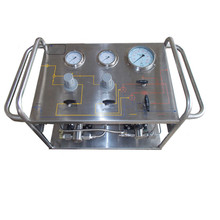 Portable Pneumatic Pump High Pressure Hydraulic Test Bench